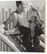 Douglas Fairbanks Jr. With Joan Crawford Wood Print
