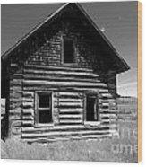 Douglas Lake Homestead Black And White II Wood Print