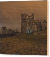 Doune Castle At Night Wood Print