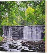 Dove Lake Waterfall At Gladwyne Wood Print