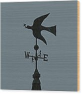 Dove Weathervane Wood Print