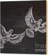 Doves Wood Print