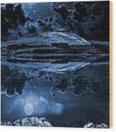 Dovestones Night Sky Wood Print