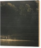 Down By The River Wood Print