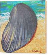 Down By The Seashore Wood Print