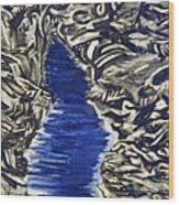 Down Flow Wood Print