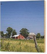 Down Home Amish Farm Wood Print