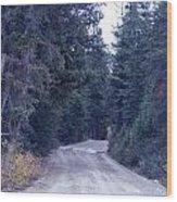Down Nature's Highway Wood Print