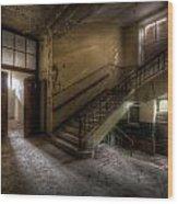 Down Stairs Ward Wood Print