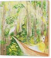 Down The Bayou Wood Print