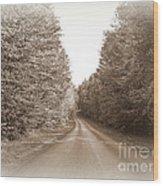Down The Road Wood Print