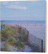 Down The Shore At Belmar Nj Wood Print