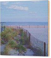 Down The Shore At Belmar Nj Wood Print