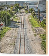Down The Tracks - Downtown Miami Wood Print by Ian Monk