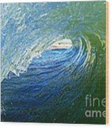 Down The Tube Wood Print by Paul Topp