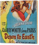 Down To Earth, Us Poster Art, From Left Wood Print