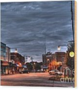Down Town Granite Falls At Six Thirty In The Morning Wood Print by Robert Loe