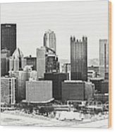 Cold Winter Day In Pittsburgh Pennsylvania Wood Print
