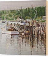 Downeast Reflections Wood Print