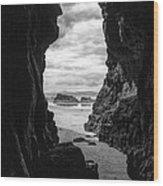 Downhill Cave Wood Print