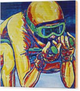 Downhill Racer Wood Print