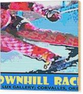 Downhill Racer Wood Print