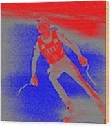 Downhill Skier Wood Print