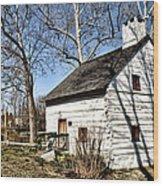 Downingtown Log House 1701 Wood Print