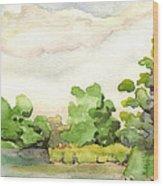 Downriver Napanee Wood Print