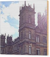 Downton Abbey In A Ray Of Sunlight Wood Print