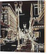 Downtown 2 By Angelia  Wood Print