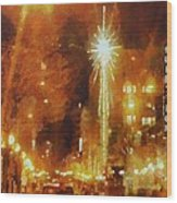 Downtown 6th St Seattle In Dec Wood Print