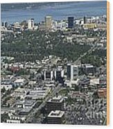 Downtown Anchorage Alaska Wood Print