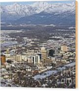 Downtown Anchorage Wood Print