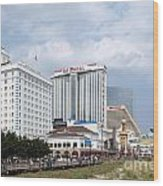 Downtown Atlantic City New Jersey Wood Print