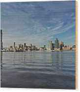 Downtown Baltimore And Harbor East Skylines Wood Print