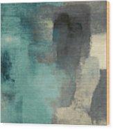 Downtown Blue Rain I Wood Print