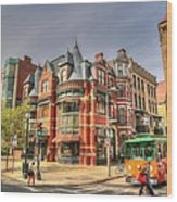 Downtown Boston. Wood Print