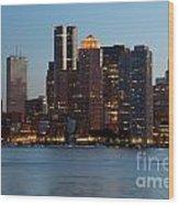 Downtown Boston Skyline Wood Print