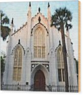 Downtown Charleston Church Wood Print