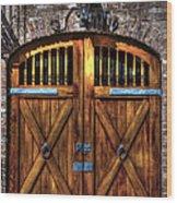 Downtown Charleston Sc Doors Wood Print