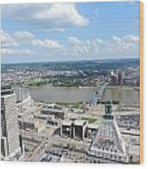 Downtown Cincinnati Form The Top Of Karew Tower 5 Wood Print