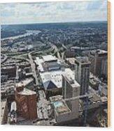 Downtown Cincinnati Form The Top Of Karew Tower Wood Print