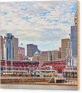 Downtown Cincinnati 9885 Wood Print