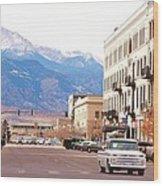 Downtown Colorado Springs  Colorado Wood Print