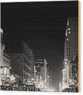 Downtown Dallas 1942 Wood Print