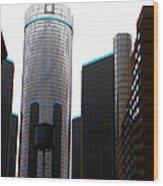 Downtown Detroit Through Joey's Eyes Wood Print