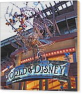 Downtown Disney Anaheim - 121211 Wood Print