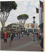 Downtown Disney Anaheim - 12122 Wood Print
