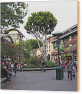 Downtown Disney Anaheim - 12128 Wood Print